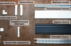 монтаж электрического теплого  плинтуса (инструкция 0-2)